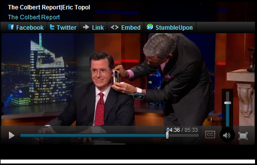 Elsevier author featured on Colbert Report