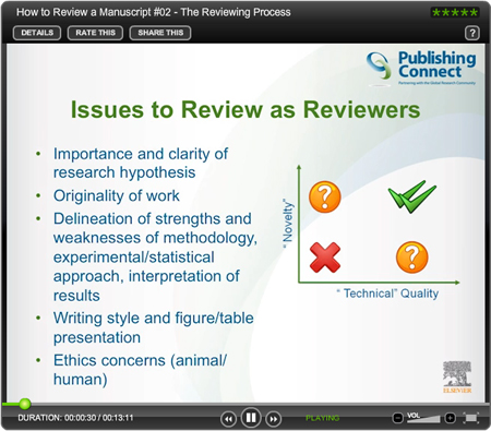 Tutorial: How to review a manuscript — #2 the peer review process